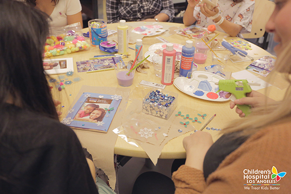 A fun crafting day at Children's Hospital Los Angeles.