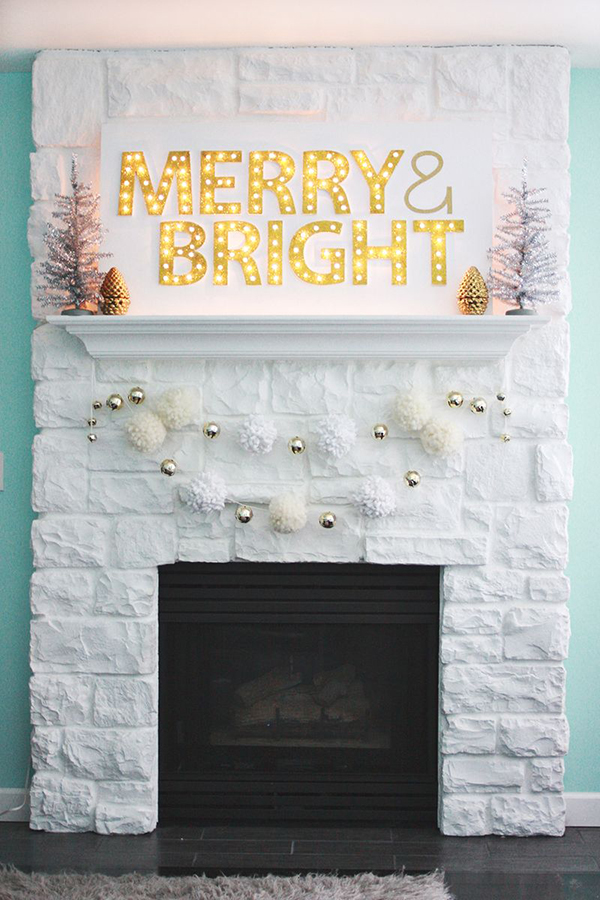 Favorite Holiday DIY (Christmas light up marquee via A Beautiful Mess)