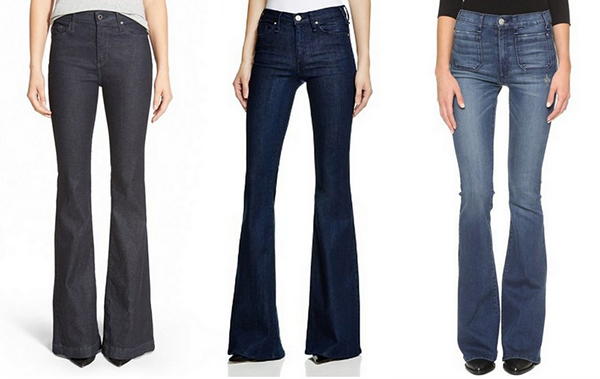 We love flared denim!