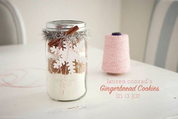Gingerbread Cookies in A Jar by LaurenConrad.com
