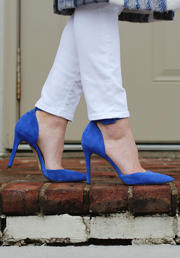 How gorgeous are these electric blue heels?