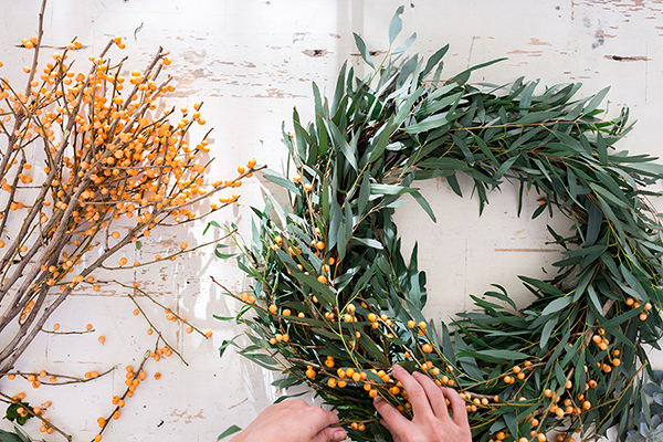 How to create 4 different holiday wreaths with fresh blooms by LaurenConrad.com