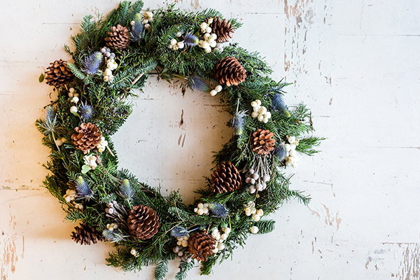 A festive DIY wreath by LaurenConrad.com