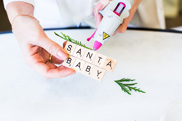 How to create ornaments using Scrabble tiles on LaurenConrad.com