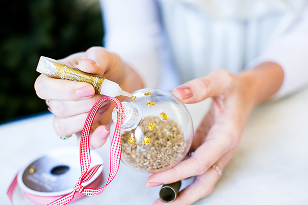 It wouldn't be the holidays without some glitter!
