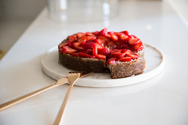 Raw Vegan Strawberry Coconut Cheesecake