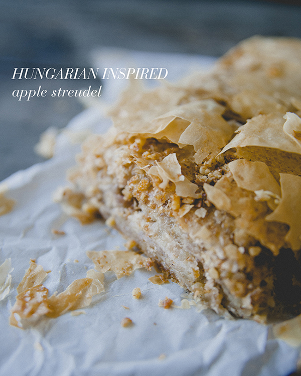 Hungarian Inspired Apple Streudel by LaurenConrad.com