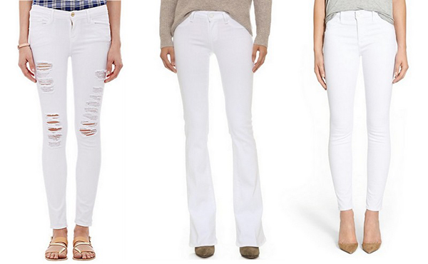 We're big fans of white denim all year round.
