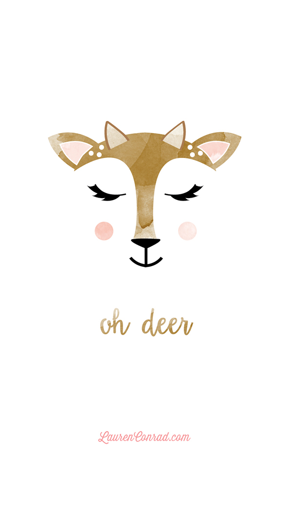 Oh Deer Tech Wallpaper By YellowHeartArt On LaurenConrad