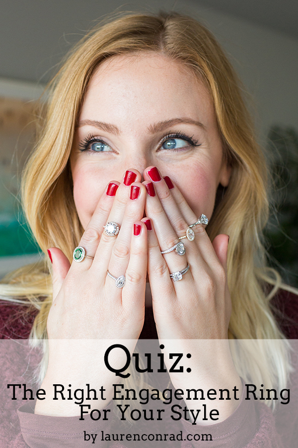 Quiz: The Right Engagement Ring for Your Style on LaurenConrad.com!