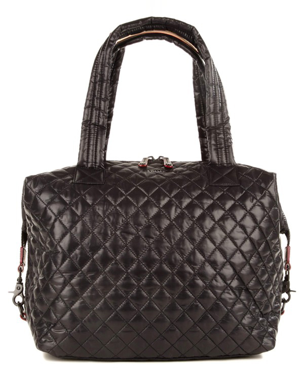 MZ Wallace Large Sutton Quilted Oxford Nylon Shoulder Tote