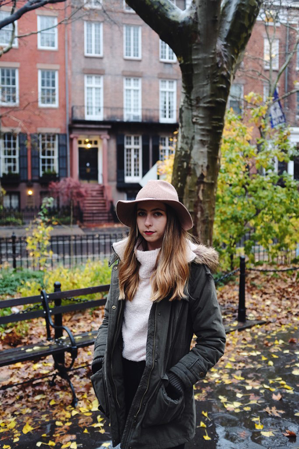 A wool fedora completes any outfit.