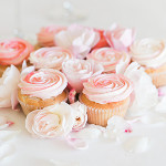 Recipe Box: Rose Cupcakes and White Chocolate Dipped Berries