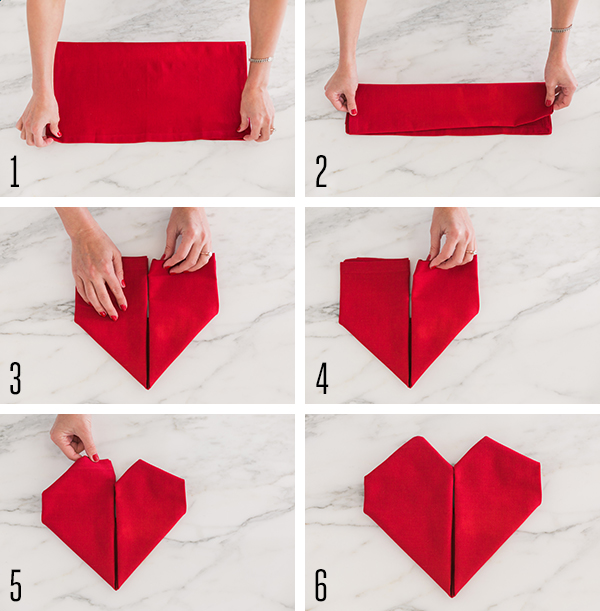 How To Make Table Napkin Designs napkin folding lotus youtube Heart Shaped Folded Napkin Tutorial