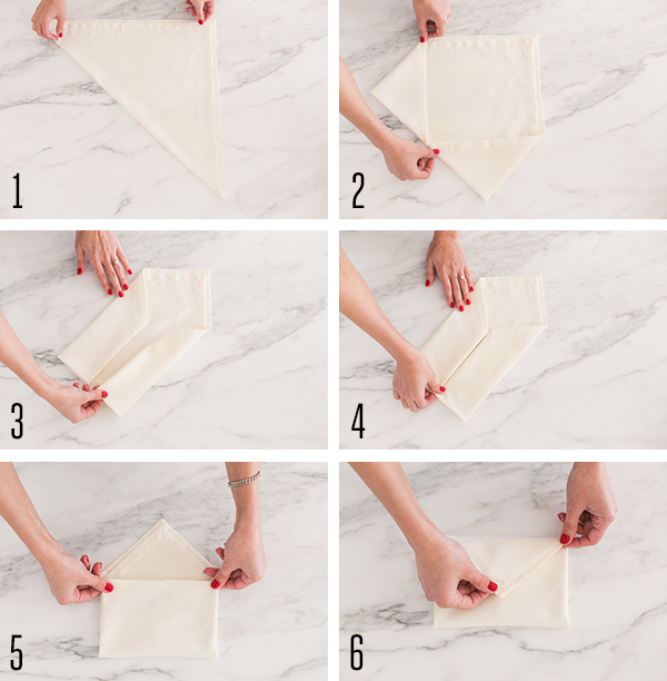 How to turn an ordinary napkin into a love letter.