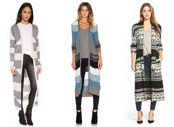 Our favorite printed maxi cardigans.