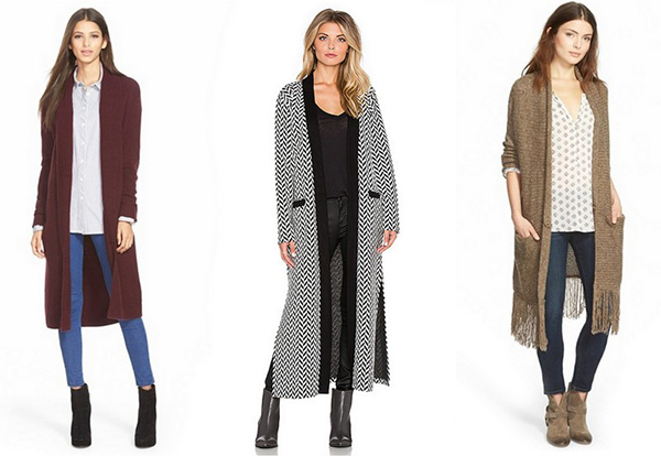 We love these warmed toned longline cardigans.