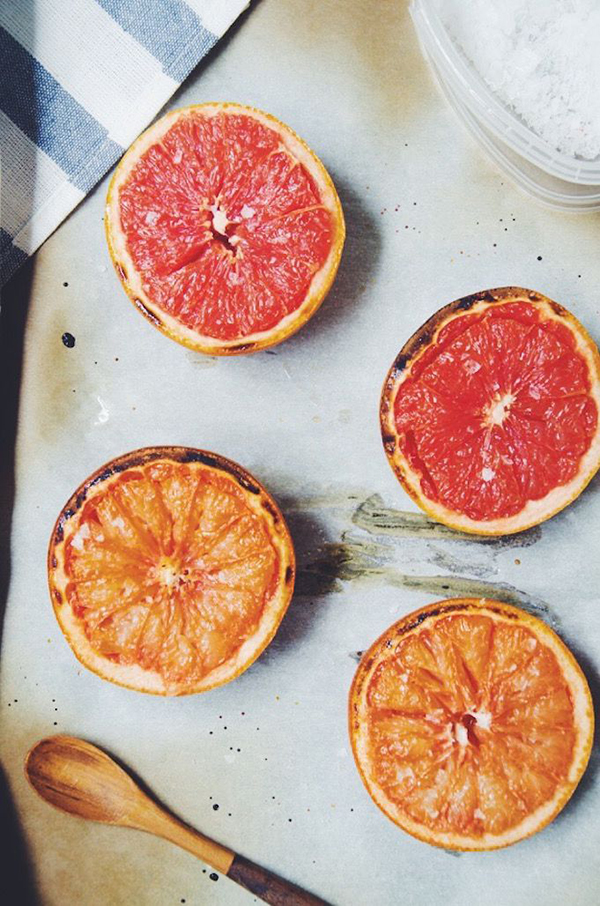 Favorite Healthy Sweet Treat (Baked Grapefruit via Baked The Blog)