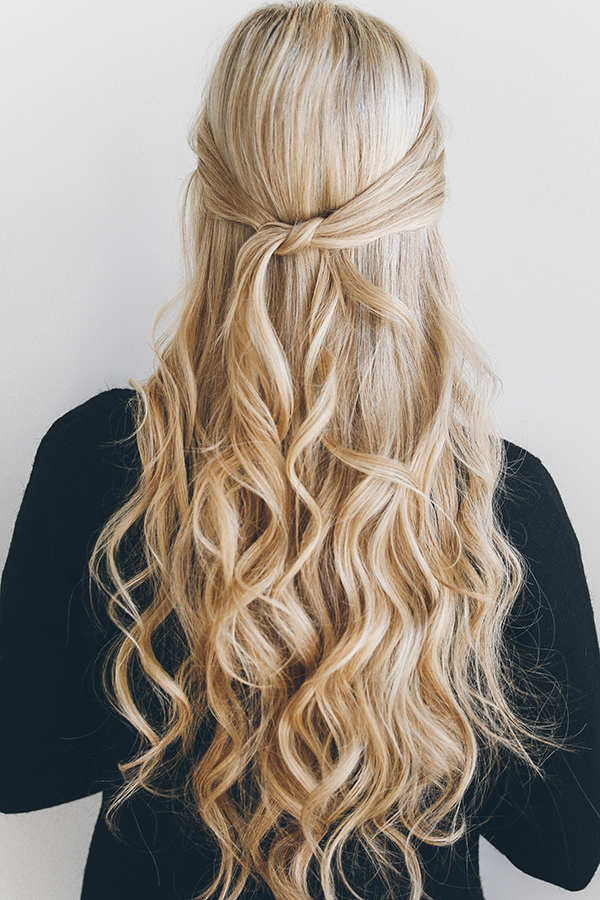 This half-updo is as easy as 1, 2, 3...