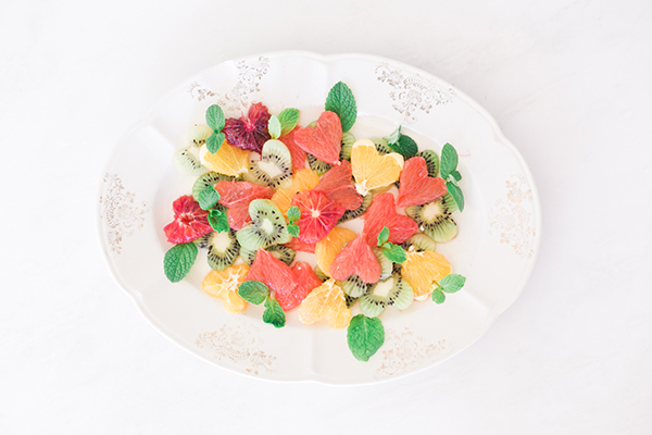 A fresh citrus salad perfect for Valentine's Day by LaurenConrad.com