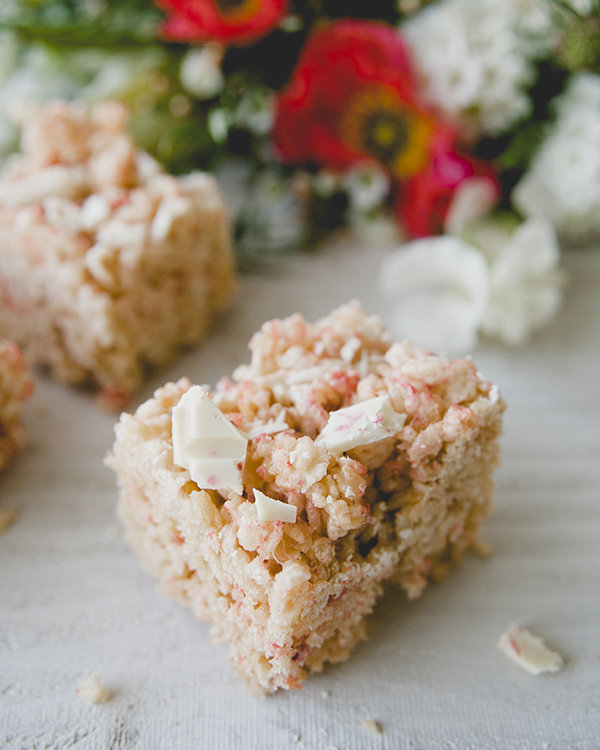 Strawberry White Chocolate Rice Krispies