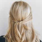 Hair How-To: The 1-Minute Knotted Half-Updo