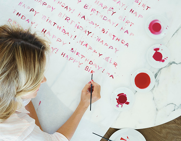 DIY wrapping paper straight from Lauren Conrad's new book Celebrate