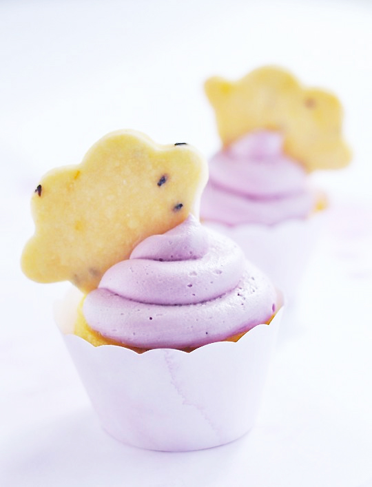 Lavender and Lemon Cloud Cupcakes from Sweetapolita