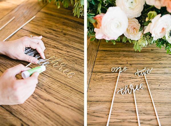 The cutest DIY table numbers