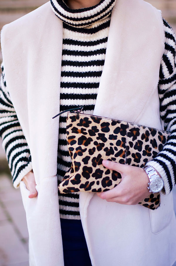 Stripes and leopard are a match made in heaven