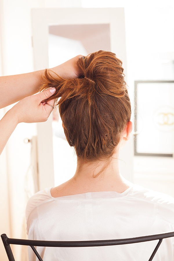 A messy bun has never been so cute