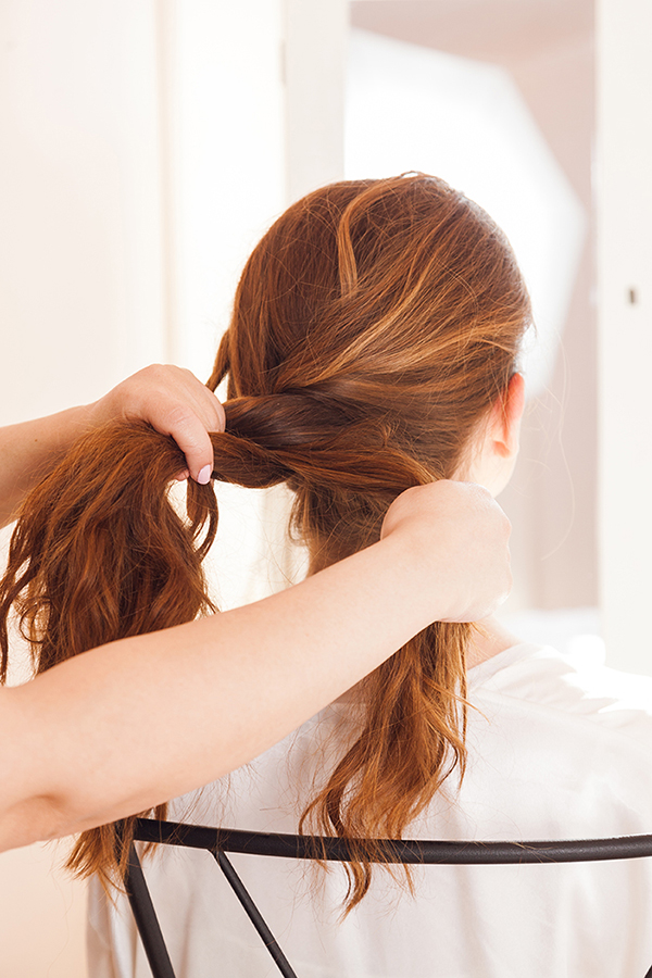 A voluminous French braid