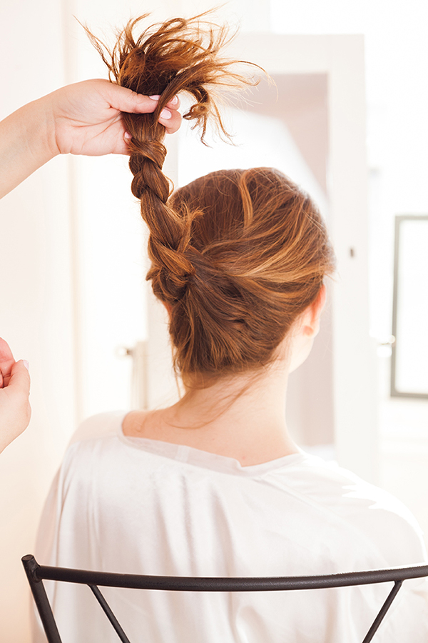 A feathery French braid in under 5 minutes