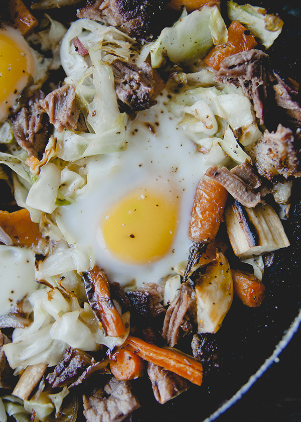 A delicious brisket hash recipe with cabbage