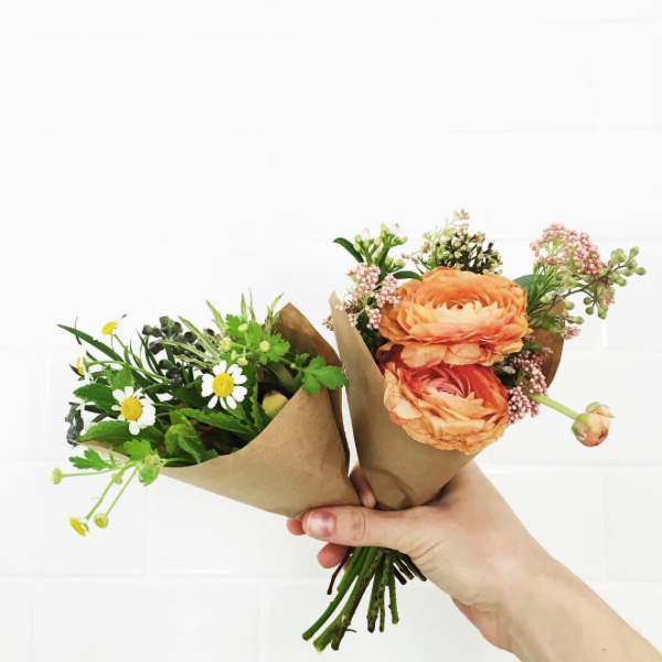 Favorite Flowers (how cute are these mini bouquets?)