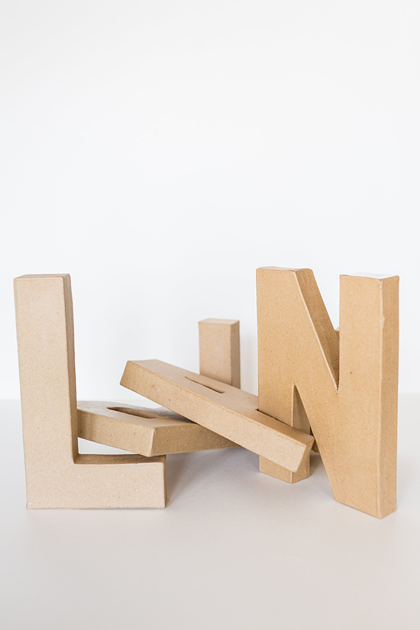 Everything you need to create your own piñata letters