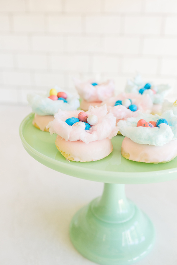 How to Make Easter Cotton Candy Nest Donuts