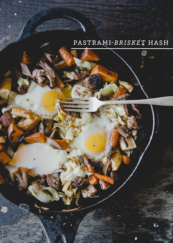 Brisket Hash with Cabbage