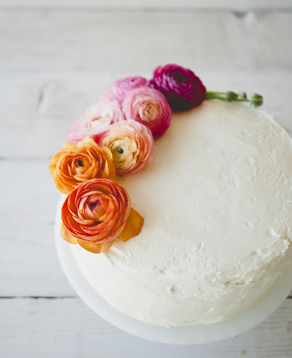 Favorite Garnish (I love how The Kitchy Kitchen safely uses flowers atop her cakes. Click here to see how she did it!)