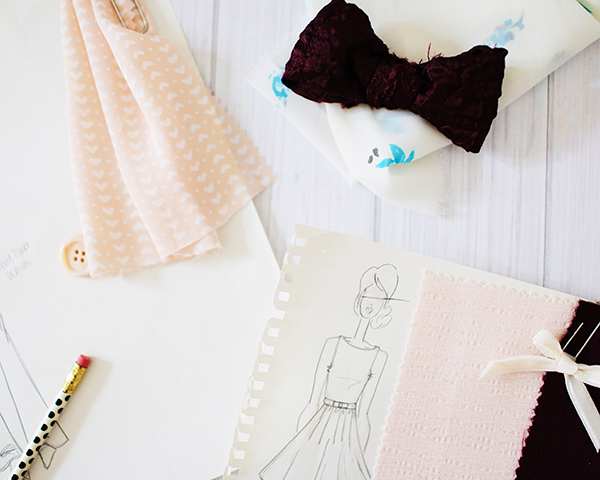 Sketches and mood boards from the new LC Lauren Conrad for Kohl's Celebrate collection