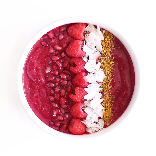 Favorite Breakfast (This healthy beet berry detox bowl from Clean Food Dirty City. This website is full of plant based, gluten-free and dairy-free recipes)