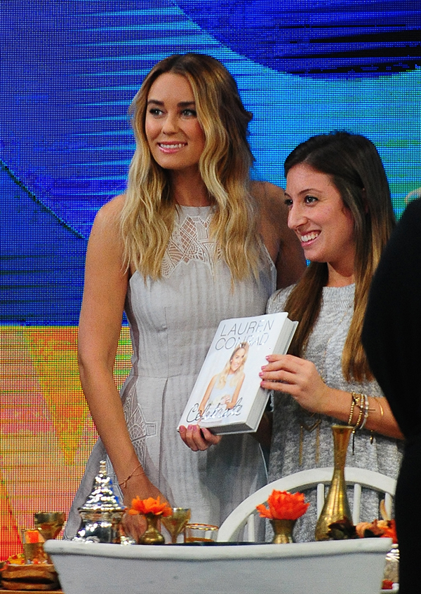Lauren wearing Jonathon Simkhai on her Celebrate book tour!