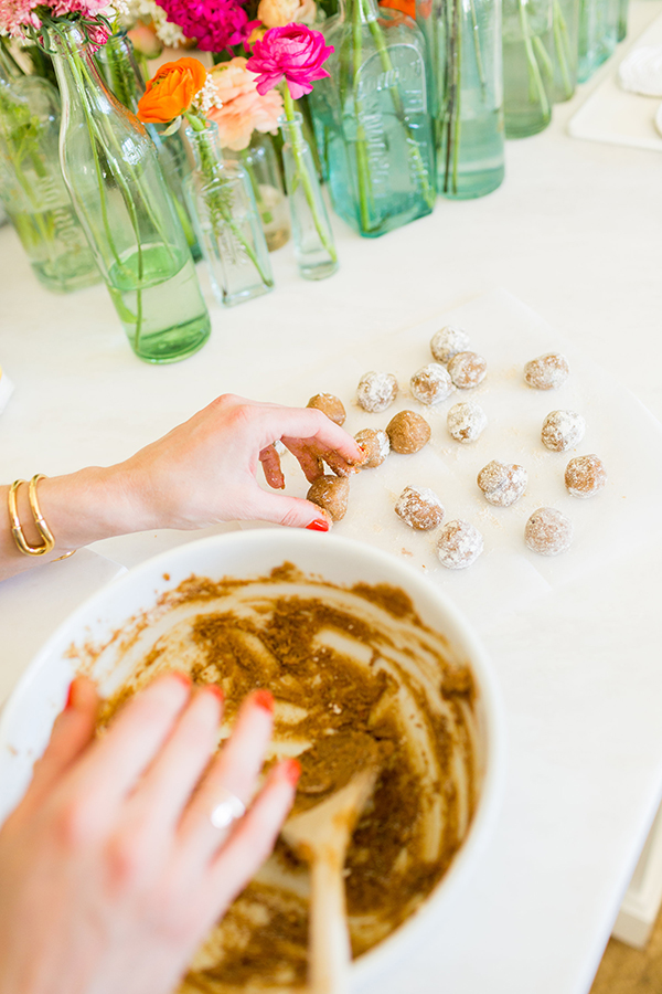 How to make healthy no-bake oat meal cookie bites by LaurenConrad.com