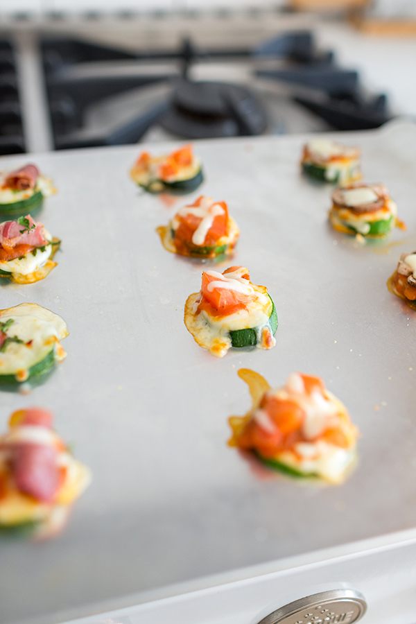 Delicious mini zucchini pizzas by LaurenConrad.com