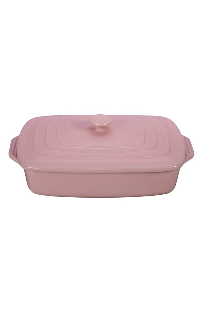 Le Creuset 3 ½ Quart Covered Rectangular Stoneware Casserole