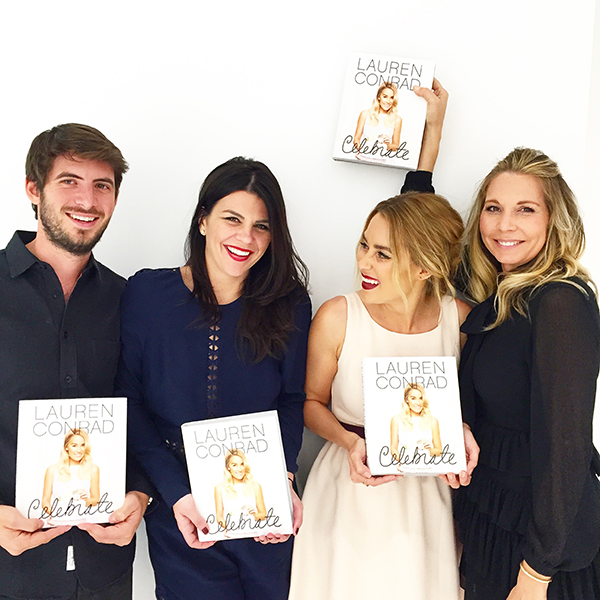 Celebrate photographer Yoni Goldberg, co-author Leslie Bruce, Lauren Conrad, and prop stylist Kate Martindale