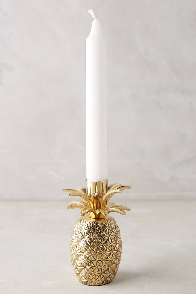 Favorite Trinket (how cute is this pineapple taper holder from Anthropologie?)