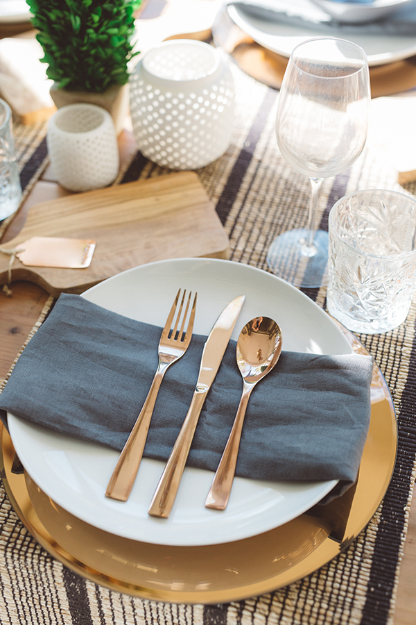 A gorgeous dinner set up for a girls night in
