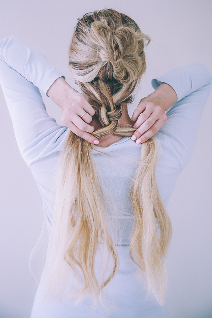 Barefoot Blonde's textured double braid tutorial on LaurenConrad.com
