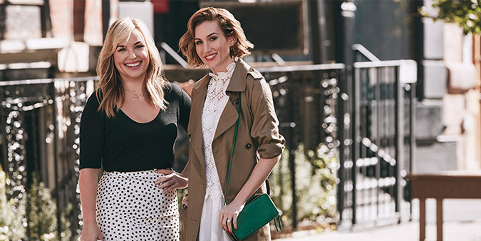 The ladies behind Who What Wear, Hillary Kerr and Katherine Power